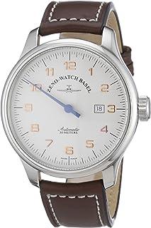 Zeno Watch Basel - 8554UNO-pol-f2 - Reloj analógico automático para Hombre con Correa de Piel, Color marrón