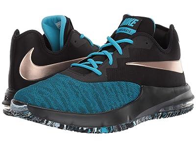 Nike Air Max Infuriate III Low (Black/Metallic Red Bronze/Light Current Blue) Men