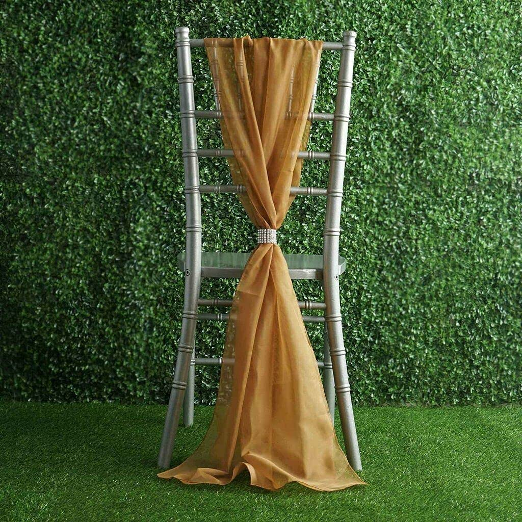 Don't miss the campaign 5 Gold Extra Industry No. 1 Wide Premium naKN Chair Chiffon Sashes Ties Re Bows
