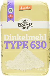 Bauckhof Dinkelmehl hell T630 Demeter, 4er Pack 4 x 1 kg