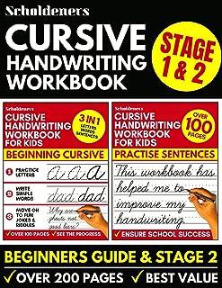 Cursive Handwriting Workbook: 2-in-1 Book Set For Kids (Cursive for Beginners / Cursive Writing Practice Book)