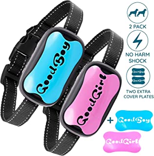 GoodBoy Two-Pack Bundle of No Bark Static Shock Collar for All Medium and Large Dogs - Control Your Pet's Unwanted Barking with This Anti Bark Training Device