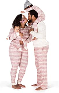 Family Jammies, Cranberry Rugby Stripe, Holiday Matching...
