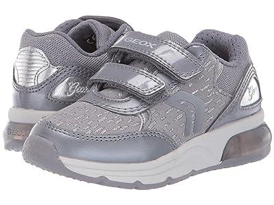 Geox Kids Jr Spaceclub 4 (Toddler) (Black/Charcoal 2) Girls Shoes