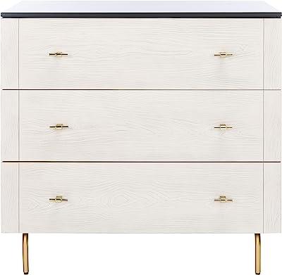 Safavieh Home Genevieve Black Modern 3-drawer Dresser