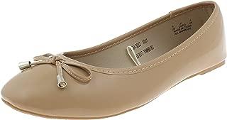 Capelli New York Faux Croc Skin Almond Toe Flat