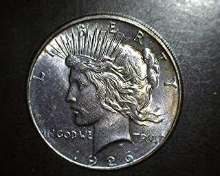 1926 D PEACE DOLLAR - **RAINBOW TONING**- Exceptional Coin $1 BU+
