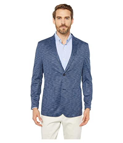 Vince Camuto Houndstooth Performance Blazer (Navy Solid) Men