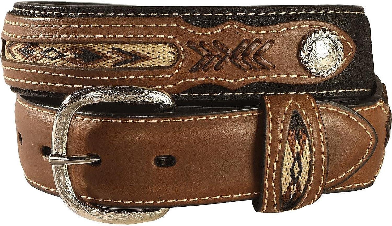 M&F Western Boys' Nocona Fabric Insert Belt (Little Big Kids), Black, 28