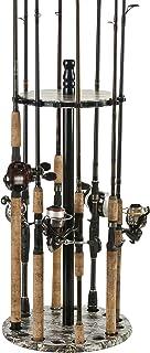 Organized Fishing Round Floor Rack for Fishing Rod Storage