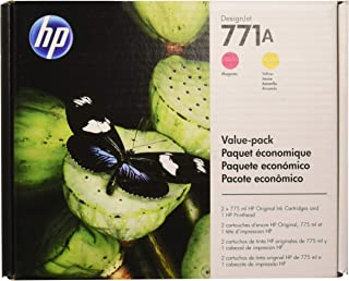 HP 771 (P2V48A) Magenta/Yellow Printhead and 771A Original Ink Cartridges Value Pack