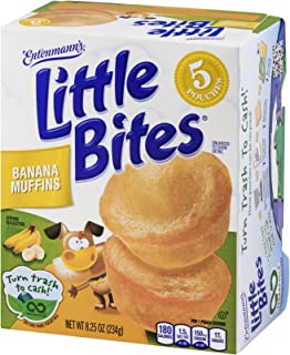 Entenmanns Little Bites Banana Muffin Pouches - 5 CT