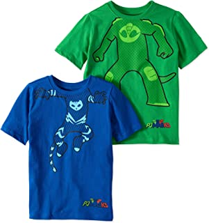 PJ Masks Short Sleeve T-Shirt - 2 Pack of PJMASKS Catboy & Gekko Short Sleeve Headless T-Shirts