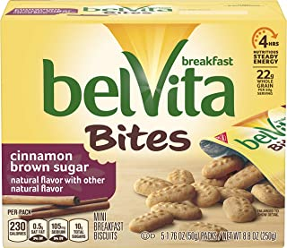 belVita Breakfast Biscuit Bites, Cinnamon Brown Sugar Flavor, 30 Packs