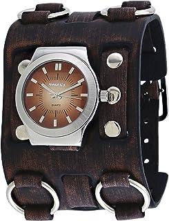 ネメシス# bfw331bメンズブラウンSuper Wideレザーバンドグラデーションブラウンダイヤル腕時計