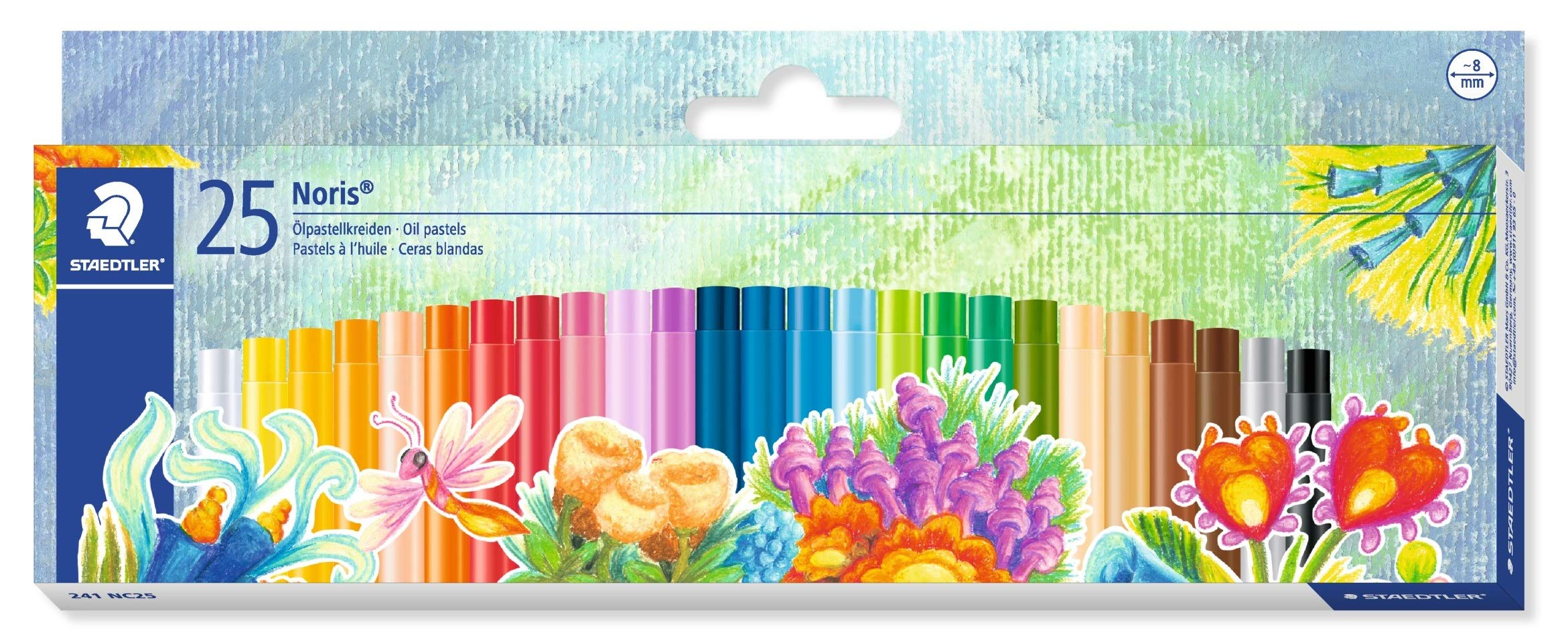 STAEDTLER 241NC25 - Estuche con 25 Ceras, Multicolor: Amazon.es: Oficina y papelería