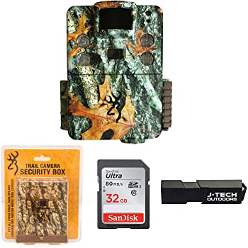Browning Strike Force HD Pro X (2019) Trail Game Camera Bundle Includes Browning Sub Micro Security Box + 32GB Memory Card + J-TECH Card Reader (20MP)   BTC5HDPX