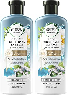 Herbal Essences, Sulfate Free Shampoo and Conditioner Kit, With Natural Source Ingredients, BioRenew Birch Bark Extract, C...
