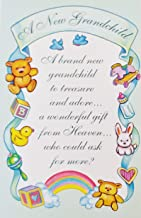 A New Grandchild - A Wonderful Gift from Heaven Religious Greeting Card - Baby Birth Congratulations to Grandparent -
