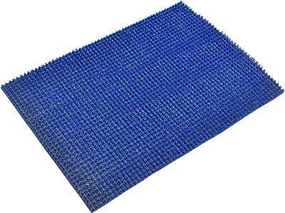 Kuber Industries PVC Thick Clean Footwear Door Mat for Front Door Entrance, Shoes Scraper Indoor Outdoor (Blue, Standard) - KUBMART03271