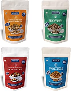 Keeros Combo of Healthy Super Snacks | Variety of Sweet & Salted, Tasty & Nutritious, Low GI, Ready to Eat Immunity Booste...