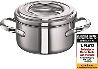 Schulte-Ufer Casserole Romana i, Stew and Stock Pot, Stainless Steel, 18/10, 14 cm, 1 L, 6301-14 i