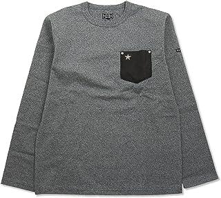 (ショット) Schott 長袖 鹿革 ポケットTシャツ ワンスター 国内正規品 グレー 3173078-14