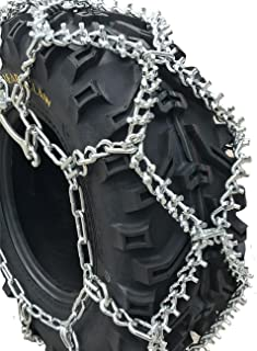 TireChain.com 26x9-12, 26 9 12 ATV UTV Stud Tire Chains, Spring Tightners