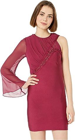 Lacing One Sleeve Bandage Dress