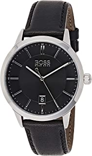 Hugo Boss Mens Analogue Classic Quartz Watch with Leather Strap 1513611