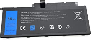 HCSK F7HVR 14.8V 58Wh Replacement Laptop Battery for Dell Inspiron 15 7537 Insprion 17 7737 Series Notebook 062VNH Y1FGD G4YJM T2T3J