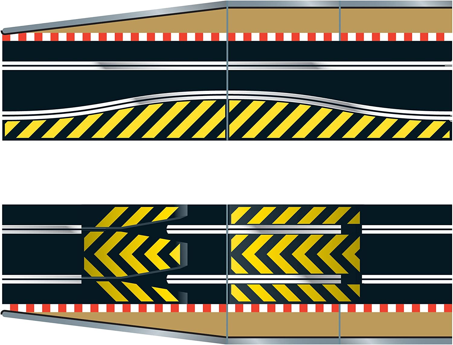 Scalextric C8511 Dallas Nippon regular agency Mall Track Extension Pack - Ram Leap and Up 1x Ramp