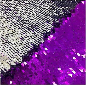 Lqing Pailletten Stoff Mit Pailletten Wendbar 2 Wege Stretch Pailletten Stoff Grün Blau Schwarz Lila Silber Half Yard Küche Haushalt