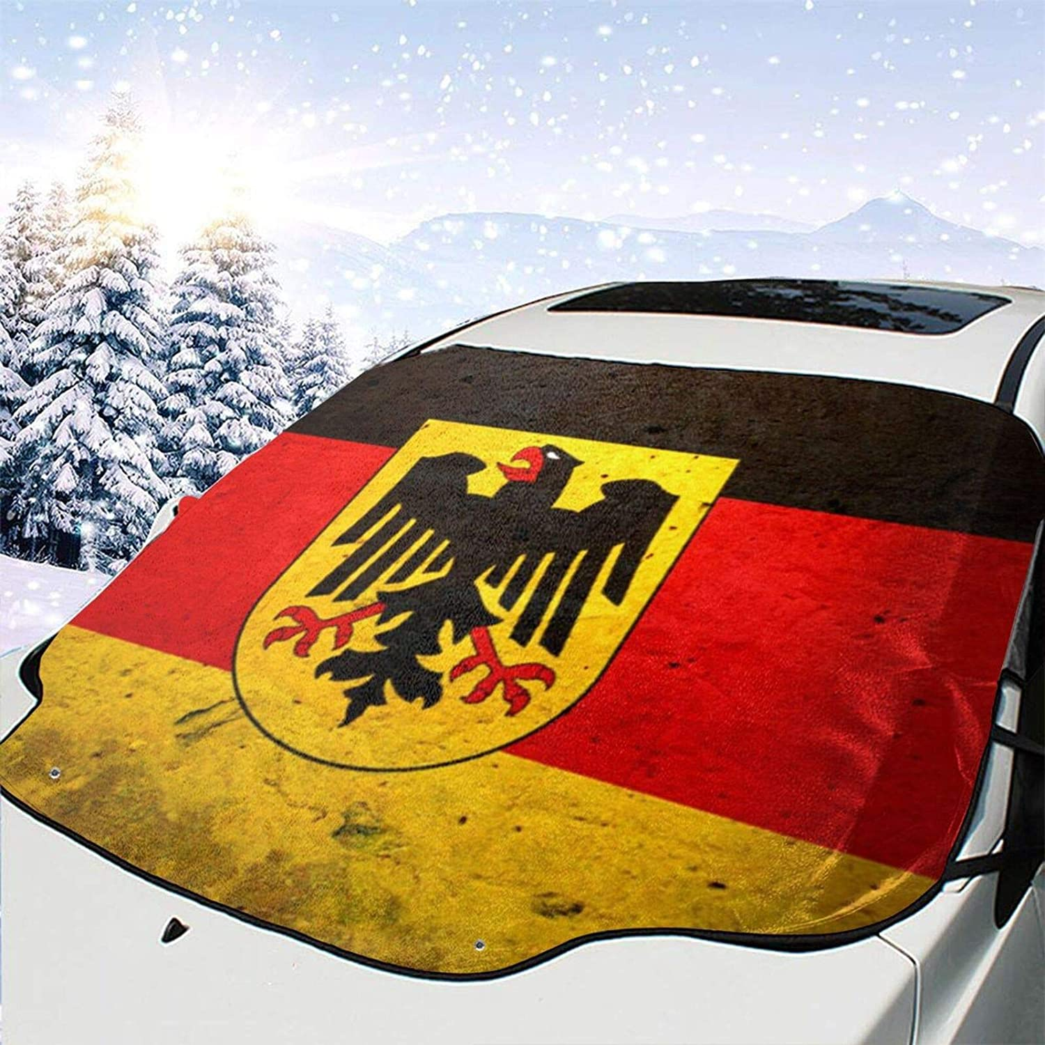 GHYGTY Car Windshield Trust Snow Cover Flag trust Windproof Vintage Maryland