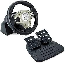 Genius TwinWheel F1 Vibration Feedback F1 Racing Wheel for PS2 and PC