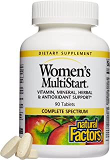 Natural Factors, Women's MultiStart Daily Multivitamin, Nutritional Support for Immune Health and Energy, 90 tablets (30 s...