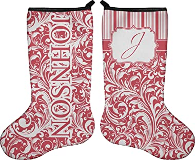 RNK Shops Swirl Holiday Stocking - Double-Sided - Neoprene (Personalized)