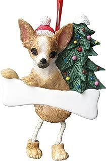 Chihuahua Tan & White Ornament with Unique