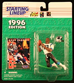 Starting Lineup Mark Carrier / Carolina Panthers 1996 NFL Action Figure & Exclusive NFL Collector Trading Card