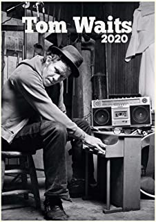 カレンダー 2020 [12 pages 20x30cm] TOM WAITS Vintage レトロ写真s 音楽 ポスターs 雑誌の表紙s