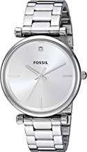 Fossil Women's Carlie Stainless Steel Diamond Accent Quartz Watch
