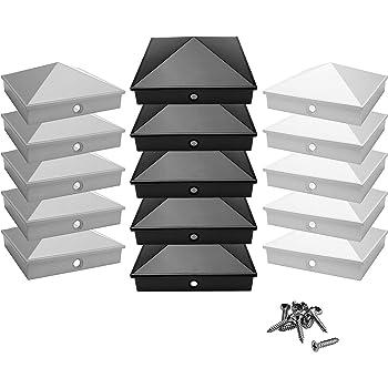 50 X Pfostenkappe Schwarz 91x91 mm Pyramide Abdeckkappe Pfosten Abdeckung 9x9 cm