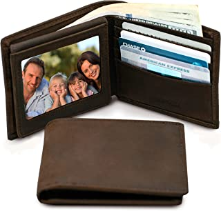 Wallets For Men RFID Blocking | Mens Leather Bifold Wallet | Genuine Leather | Extra Capacity | By Stay Fine