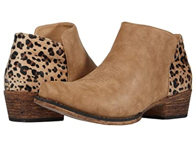 Roper Sedona (Tan Faux Leather Vamp/Leopard Print Heel) Women