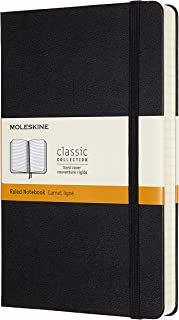 "$21 » Moleskine Classic Expanded Notebook, Hard Cover, Large (5"" x 8.25"") Ruled/Lined, Black, 400 Pages"