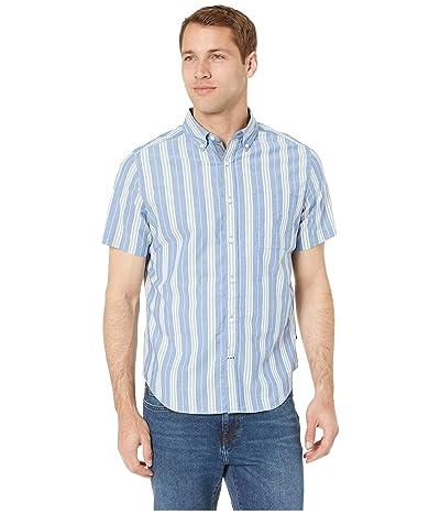 Nautica Casual Stripe Short Sleeve Shirt (Limoges) Men