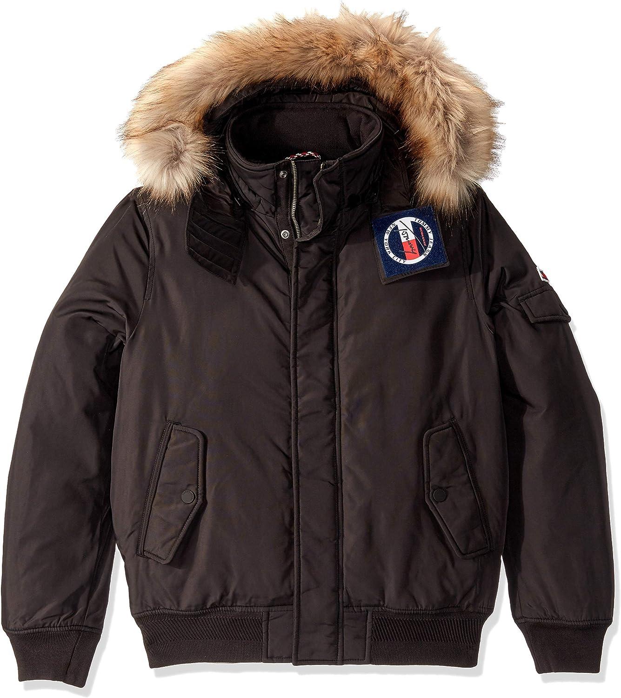 Tommy Hilfiger Men's Winter Jacket Parka with Faux Fur Hood