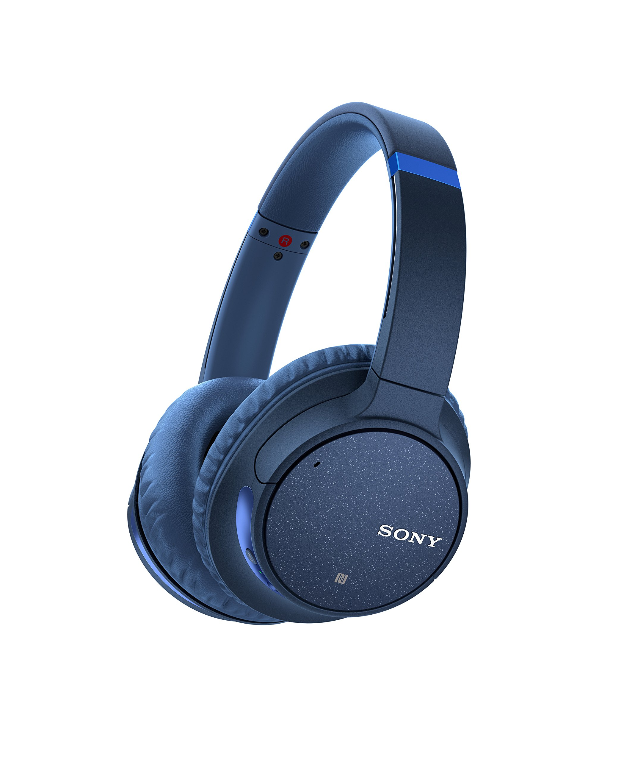 Amazon Com Sony Noise Cancelling Headphones Whch700n Wireless Bluetooth Over The Ear Headset With Mic For Phone Call And Alexa Voice Control Blue Electronics