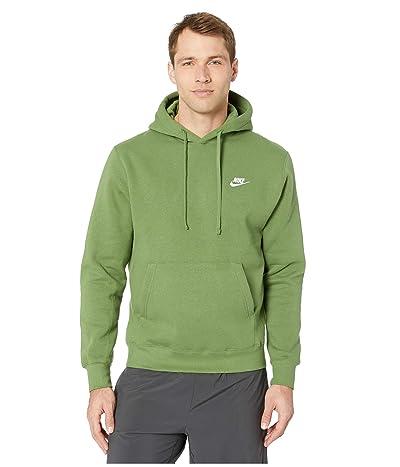 Nike NSW Club Hoodie Pullover (Treeline/Treeline/White) Men