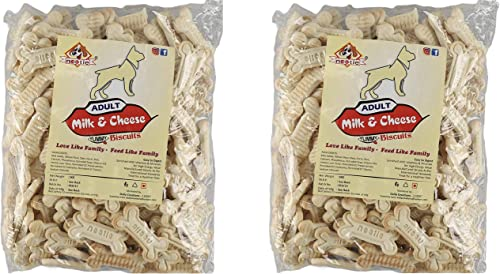 Nootie Real Milk Adult Dog Cookie, 1 kg Pack (Pack of 2)